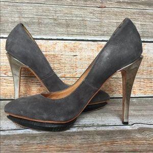 L.A.M.B Gwen Stefani Suede Platform Stiletto Heels